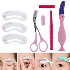 Eyebrow set Pencil Razor Scissor Stencil Styles Template Shaping Shape brow kit