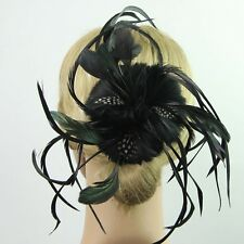 Women Feather Headwear Flower shape Hair Clip Fascinator Headdress Accessories