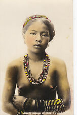 RP:Topless Igorot Girl portrait (Colorized) , Philippines , 00-10s