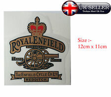 ROYAL ENFIELD PAIR OF CANON AND RED CROWN TOOL BOX STICKER SET HIGH QUALITY