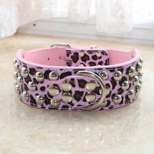 Spiked Studded Leather Dog Collar Medium Large Rivet Pet Collar Pitbull S M L XL