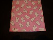 100% cotton fabric, sheep/pink/baby/nursery, fat quarter, quilting/craft