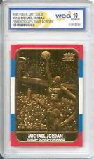 MICHAEL JORDAN 1986 Fleer ROOKIE 23KT Gold Card R/W/B Border Graded GEM MINT 10