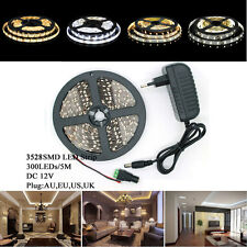 NonWaterproof 5M 300 LED 3528 SMD Flexible LED Strip Light Lamp Cool/Warm White