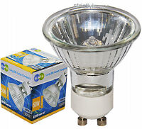 10 LONG LIFE GU10 50w Halogen Light Bulbs Free Delivery