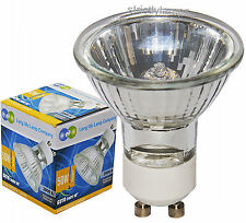 10 LONG LIFE GU10 50w Halogen Light Bulbs