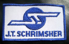 JT SCHRIMSHER EMBROIDERED SEW ON PATCH CONSTRUCTION COMPANY ADVERTISING UNIFORM
