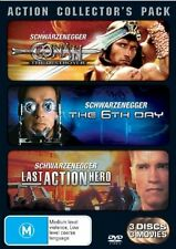 Arnie Action Pack (DVD, 2006, 3-Disc Set) Conan, The 6th Day, Last Action Hero