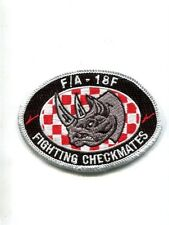 VFA-211 CHECKMATES US NAVY F-18 F SUPER HORNET RHINO Fighter Squadron Patch
