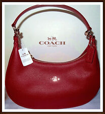 NWT NEW $375 Coach TRUE RED Leather Harley East West Hobo Shoulder Hand Bag