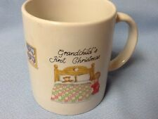 GRANDCHILD'S FIRST CHRISTMAS COFFEE MUG PRAYING BABY BOY BY COZY BED NEW