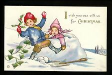 Artist Signed Vintage postcard MEP M. Price , Christmas Greetings Stecher 417A
