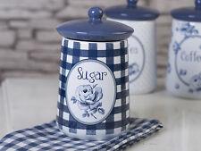 Katie Alice Vintage Indigo contenitore zucchero con guarnizione in silicone