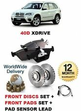FOR BMW X5 XDRIVE 40D 2010--  FRONT BRAKE DISCS SET & DISC PAD + SENSOR LEAD