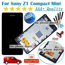 For Sony Xperia Z1 Compact Mini LCD Digitizer Touch Screen M51w D5503+ Frame UK
