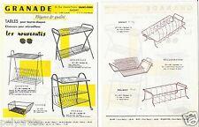 Publicité ancienne _ GRANADE Tables Tourne Disques Classeurs Dessins Cotés Tarif