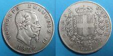ITALIE - 5 LIRE 1872 M BN - VITTORIO EMANUELE II - Argent