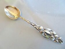 ANTIQUE VTG 14g STERLING SILVER PASADENA, CA SOUVENIR SPOON, CITRUS ORANGES