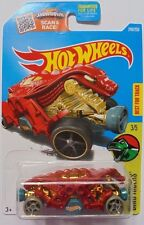 2016 Hot Wheels DINO RIDERS 3/5 Double Demon 248/250 (Red Version)