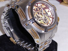 Invicta Reserve 13663 Bolt Zeus Swiss Dubois Depraz 14K Gold Cables Mens Watch