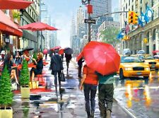 NEW! Castorland New York Cafe 2000 piece street scene jigsaw puzzle