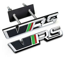 VRS Badge Front Grill + Rear Boot Badge Emblem 3D Skoda Octavia Fabia Yeti MK2