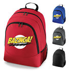 Bazinga Logo Big Bang Theory School Work Backpack Rucksack Bag NEW