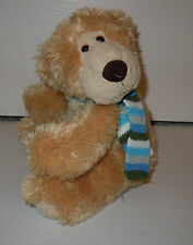 Aurora Gift of Smiles Classic Bear Vase Hugger with Striped Scarf