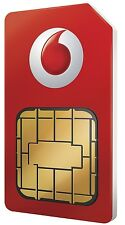 VODAFONE SIM CARD. Pay As You Go Standard Size. ufficiale Voda Retail Pack.