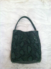 Stella McCartney green faux python hobo purse bag gently preowned $1,435 retail