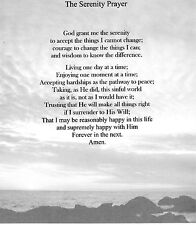 The Serenity Prayer Verse Inspirational Poem Plaque Laminated (that can be frame