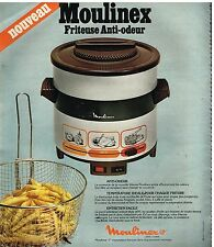 Publicité Advertising 1978 Frites la friteuse Moulinex