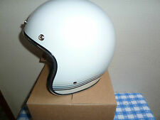 Biltwell Bonanza SpectrUM Open Face Helmet Dot Approved White/Silver XXL