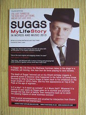 SUGGS - SHOW ADVERT FLYER - 'MY LIFE STORY IN WORDS AND MUSIC' 2013