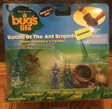 Disney Pixar A BUG'S LIFE BATTLE OF THE ANT BRIGADE 6 Figures W/ Cannon NEW