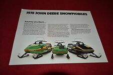 John Deere Spitfire Cyclone 340 Liquifire 340 Snowmobile Dealers Brochure YABE9