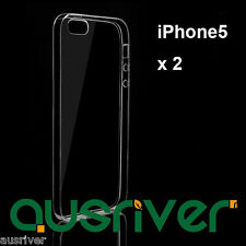 2xNew Ultra Thin Transparent Case Cover+Free Screen Protector For Apple iPhone 5