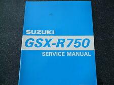 Suzuki GSX R 750 Modello dell'anno 1995 Raffreddato ad acqua Servizio Manuale