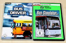 2 pc jeux Bundle-bus simulator 2012 & Bus Driver-pc dvd-simulation