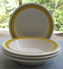 Set of FOUR Arabia of Finland Faenza Yellow Fruit or Dessert Bowls