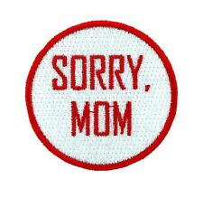 Patch toppe toppa ricamate termoadesiva moto vintage biker sorry mom