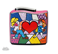 "Britto ""Heart Kids"" Porzellan-Vase NEU&OVP Pop-Art Goebel Design Kinder m Herz"