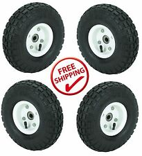 "4 Tire Set 10"" Steel Air Pneumatic Hand Truck Dolly Wagon Wheel FREE SHIPPING!!"