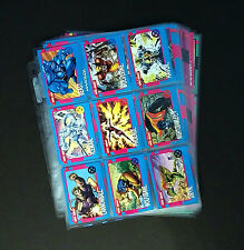 NM 1992 Impel X-MEN SERIES 1 (I) complete base set 100 cards in new pages