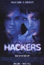 HACKERS Movie POSTER 27x40 Felicity Huffman Jonny Lee Miller Angelina Jolie