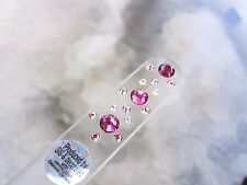 Mont Bleu Czech Made Crystal Glass Nail File adorned with Swarovski Crystals c22