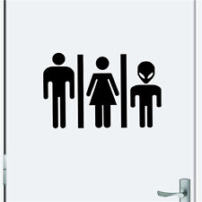 Alien Toilet Bathroom Funny.. Cheap Wall Stickers