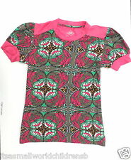 girls stunning TOP by OILILY 11/12Y cyclamen Art Nouveau print (eu152) BNWOT