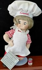 1995 Campbell Soup Kids Porcelain Doll With Stand The Dancing Chef Danbury Mint