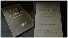 Atlante di embriologia – Dott. Arnold Brass – Vallardi Milano I° edizione 1893